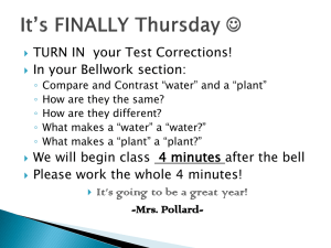 TURN IN  your Test Corrections! In your Bellwork section: