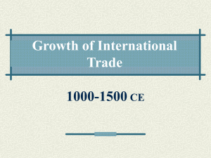 Growth of International Trade 1000-1500 CE