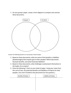 1.  On your group's paper, create a Venn diagram... these documents.