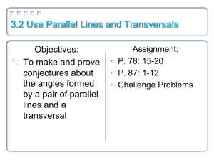 3.2 Use Parallel Lines and Transversals
