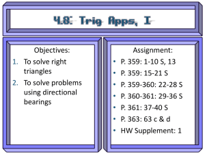 Objectives: Assignment: To solve right P. 359: 1-10 S, 13