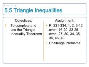 5.5 Triangle Inequalities