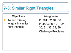 7-3: Similar Right Triangles