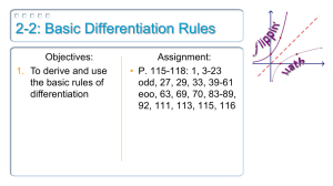 2-2: Basic Differentiation Rules