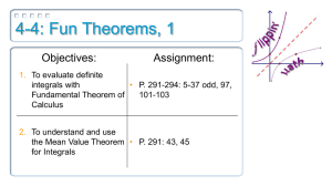 4-4: Fun Theorems, 1 Objectives: Assignment: