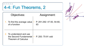 4-4: Fun Theorems, 2 Objectives: Assignment:
