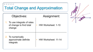 Total Change and Approximation Objectives: Assignment: