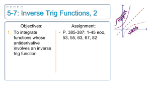 5-7: Inverse Trig Functions, 2