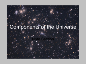 Components of the Universe Note Section