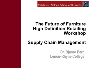 The Future of Furniture High Definition Retailing Workshop Supply Chain Management