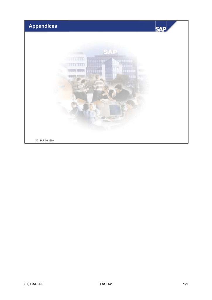 Appendices (C) SAP AG TASD41