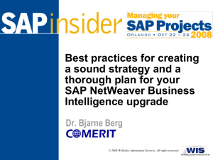 Best practices for creating a sound strategy and a SAP NetWeaver Business
