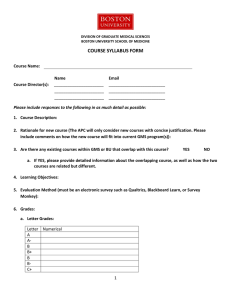 COURSE SYLLABUS FORM