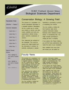 Biological Sciences Department