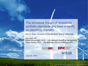The structural impact of renewable portfolio standards and feed-in-tariffs on electricity markets