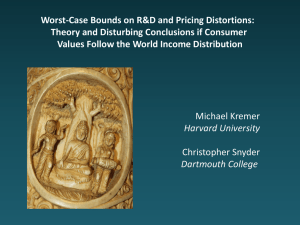 Worst-Case Bounds on R&D and Pricing Distortions: