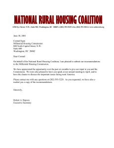 NATIONAL RURAL HOUSING COALITION