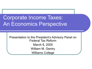 Corporate Income Taxes: An Economics Perspective