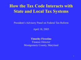 How the Tax Code Interacts with State and Local Tax Systems