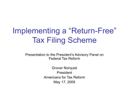 "Implementing a ""Return-Free"" Tax Filing Scheme"