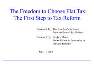 The Freedom to Choose Flat Tax: