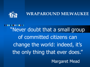 """Never doubt that a small group of committed citizens can"