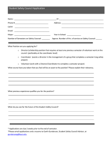 Student Safety Council Application