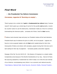 Final Word I  the Presidential Tax Reform Commission