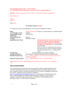 Letter Template (January 2015 – Version 2015/01)
