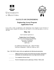 FACULTY OF ENGINEERING Engineering Access Program Application Form