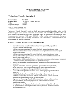 Technology Transfer Specialist I