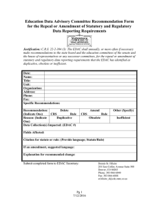 Education Data Advisory Committee Recommendation Form