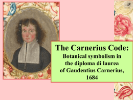 The Carnerius Code: Botanical symbolism in the diploma di laurea of Gaudentius Carnerius,