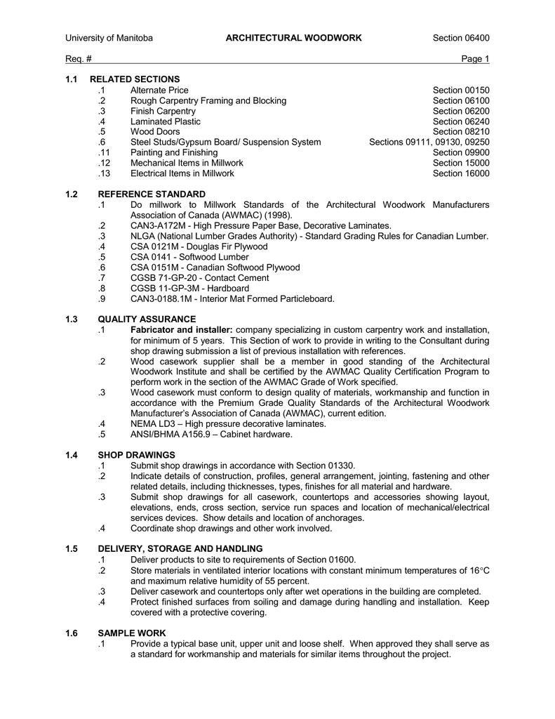 section 06400 req page 1 rh studylib net