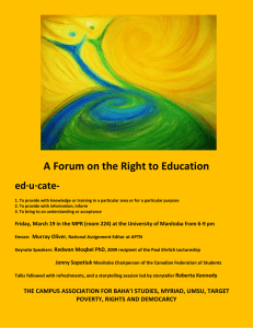 A Forum on the Right to Education ed·u·cate-