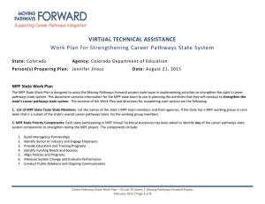 VIRTUAL TECHNICAL ASSISTANCE Work Plan for Strengthening Career Pathways State System