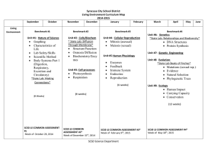 Syracuse City School District Living Environment Curriculum Map 2014-2015