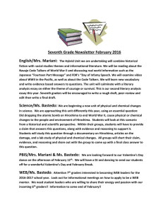 Seventh Grade Newsletter February 2016 English/Mrs. Mariani: