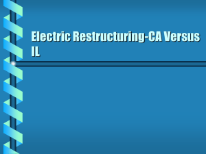 Electric Restructuring-CA Versus IL