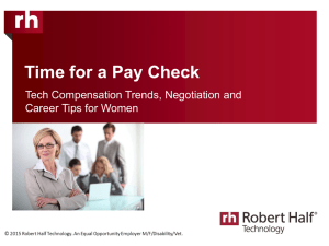 Time for a Pay Check Tech Compensation Trends, Negotiation and