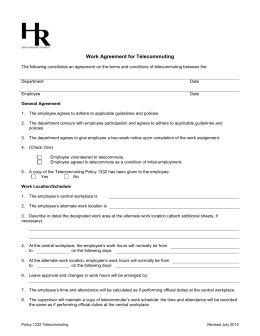 Work Agreement for Telecommuting