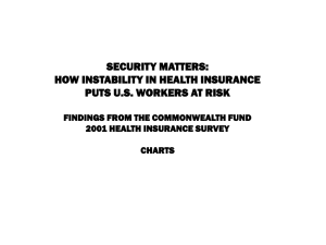 SECURITY MATTERS: HOW INSTABILITY IN HEALTH INSURANCE PUTS U.S. WORKERS AT RISK