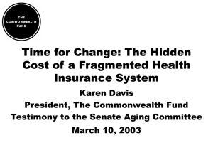 Time for Change: The Hidden Cost of a Fragmented Health Insurance System