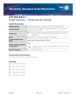 Reliability Standard Audit Worksheet CIP-004-AB-5.1 – Personnel & Training