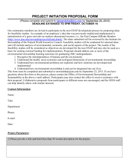 PROJECT INITIATION PROPOSAL FORM