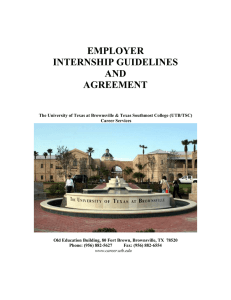 EMPLOYER INTERNSHIP GUIDELINES AND AGREEMENT