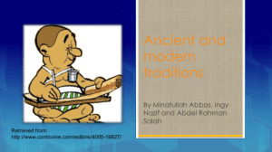 Ancient and modern traditions By Minatullah Abbas, Ingy