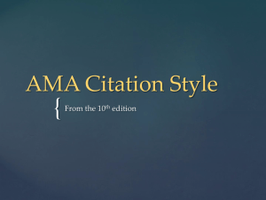 { AMA Citation Style From the 10 edition