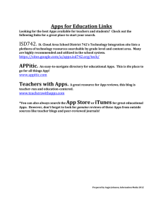 Apps for Education Links
