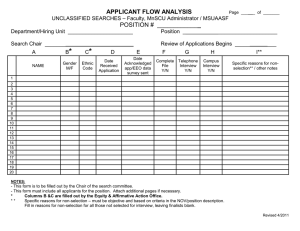 APPLICANT FLOW ANALYSIS  POSITION #  _____________